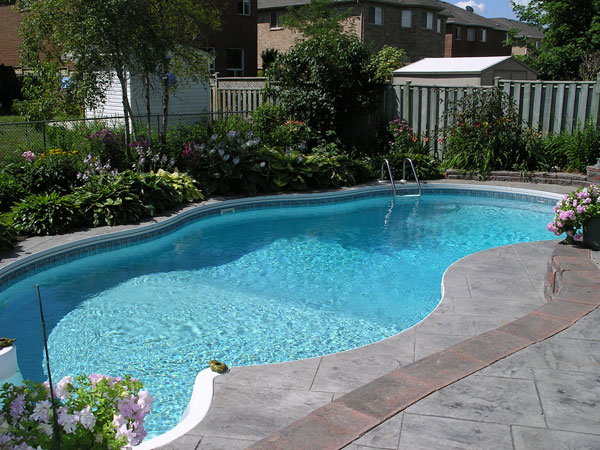 A custom designed residential swimming pool.